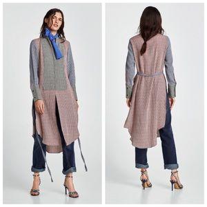 NWT Zara Contrasting Checked / Plaid Tunic - S